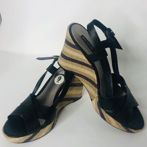 Black and Tan Sandal Shoes Never Worn